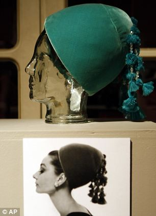Givenchy velvet hat worn by Audrey Hepburn