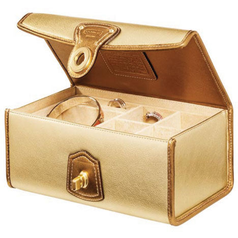 Coach Leather Jewelry Box Hope Reflected