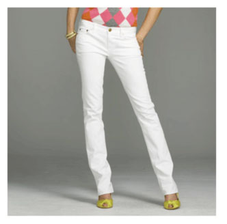 J.Crew white matchstick jeans