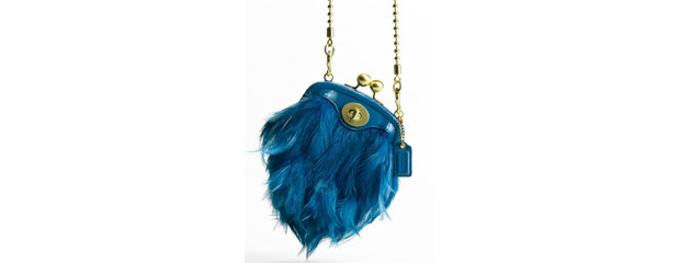 Coach Poppy Collection Feather Crossbody Bag