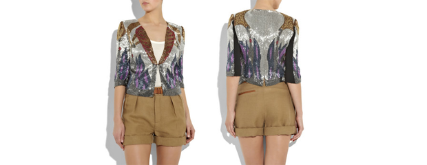 Haute Hippie Beaded Short Jacket