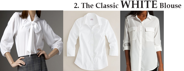 Every Woman Essentials: The White Blouse - Ideas & Inspiration ...