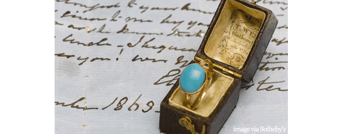 Jane Austen Ring for Auction at Sotheby's