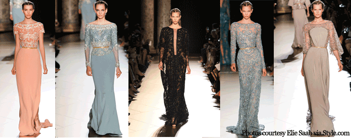 Paris Fashion Week Elie Saab Couture Fall 2012