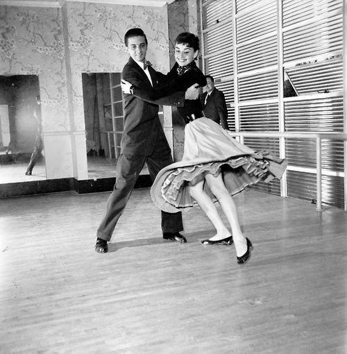 Audrey Hepburn Dancing.