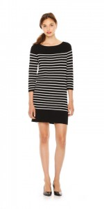 Joe Fresh black striped dress.