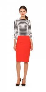 Joe Fresh red ponte skirt.