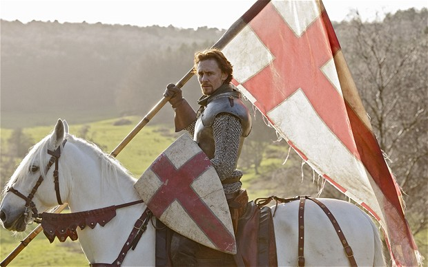 Tom Hiddlestone as Henry in Henry V, The Hollow Crown.