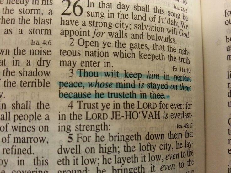 Isaiah 26:3 (KJV)