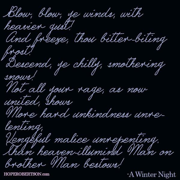 """An excerpt from """"Winter Night"""" by Robert Burns."""