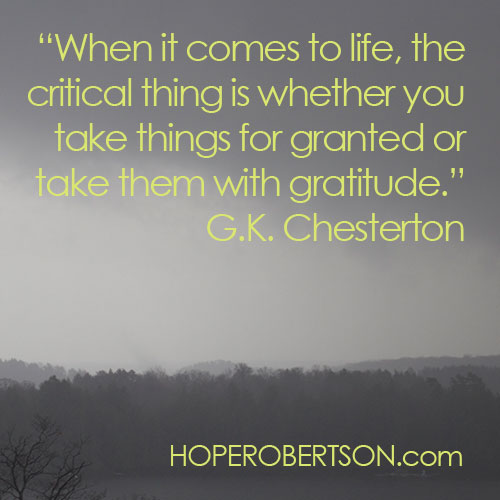 G.K. Chesterton on gratitude.
