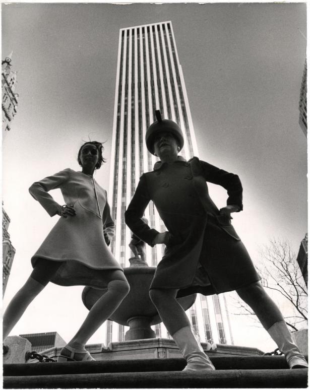 GM Building, New York City. Photograph by Bill Cunningham, via New York Historical Society.