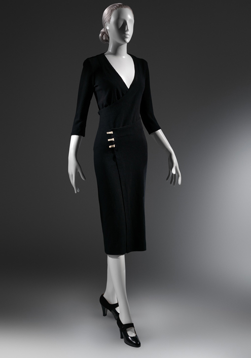 "Charles James ""Taxi"" Dress, ca. 1932, Black wool ribbed knit The Metropolitan Museum of Art, New York, Purchase, Alan W. Kornberg Gift, 2013 (2013.309)"