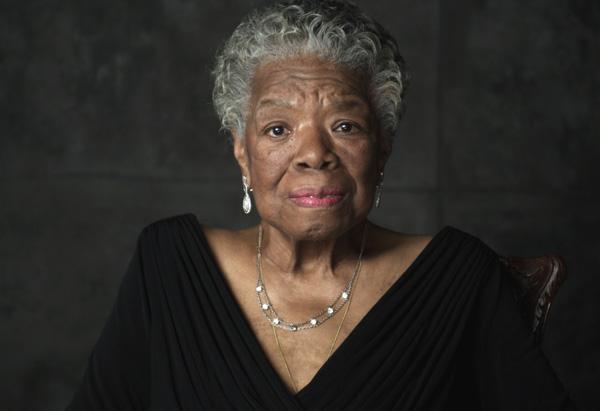 Maya Angelou. image via Oprah.com