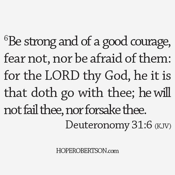 Deuteronomy 31:6 (KJV)