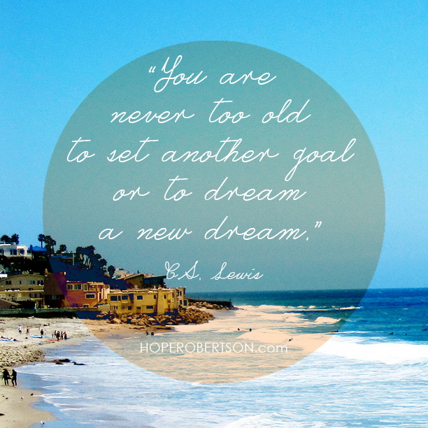 C.S.Lewis goals quote