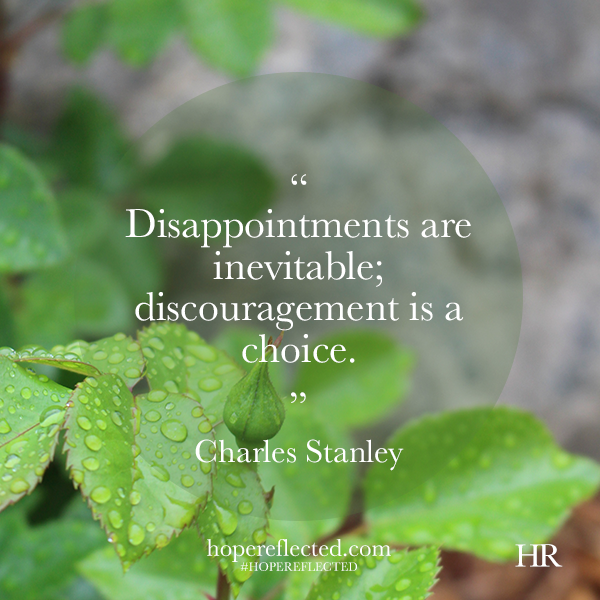 discouragement is a choice