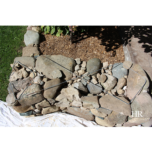 dry lay stone bench