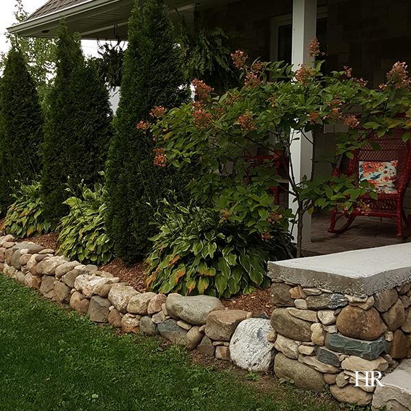 garden stone wall
