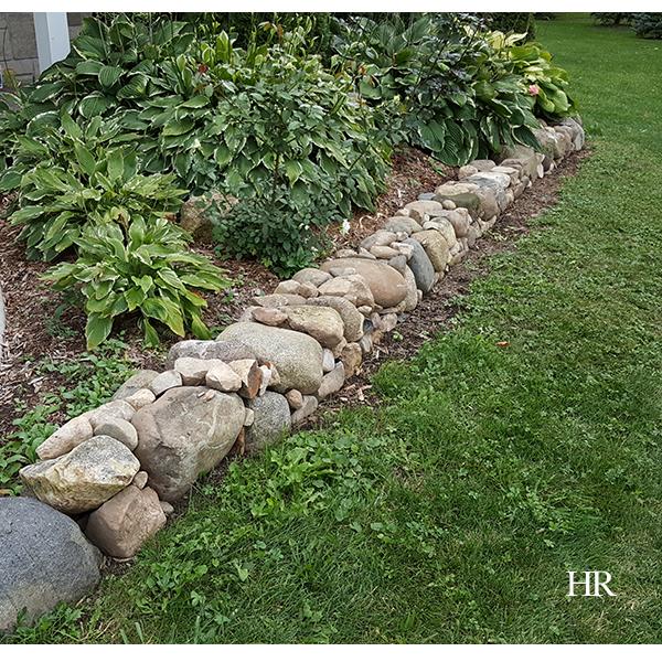 garden stone border