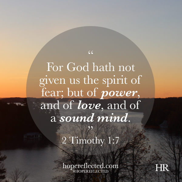 encouragement 2 timothy 1:7
