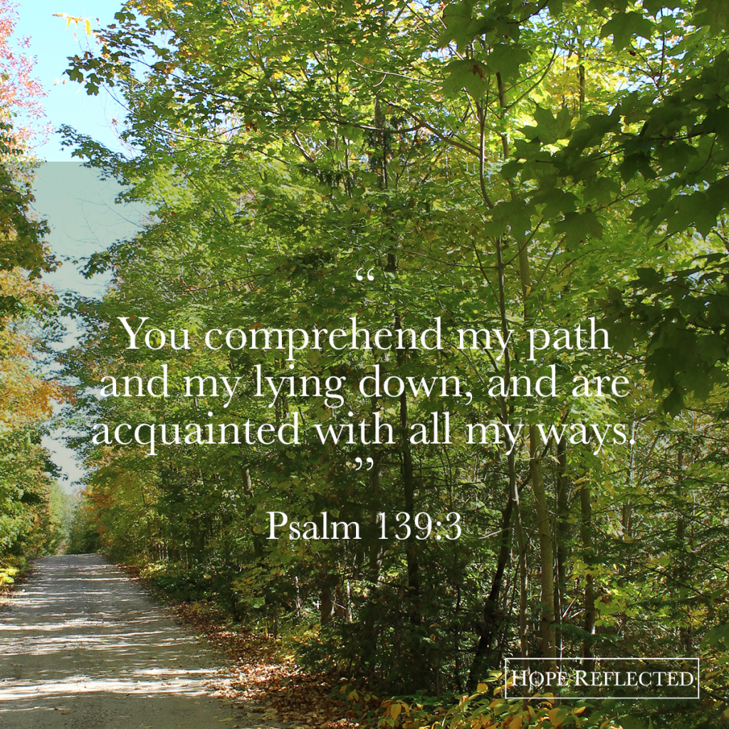 encouragement psalm 139:3