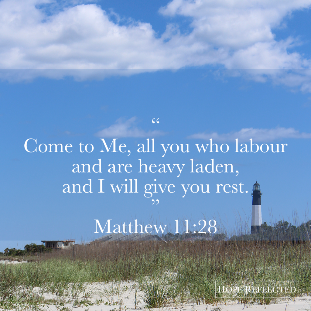 matthew 11:28 encouragement rest