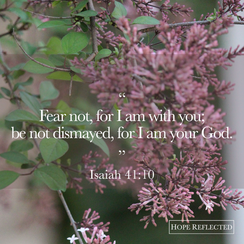 what to do in the face of fear isaiah 41:10