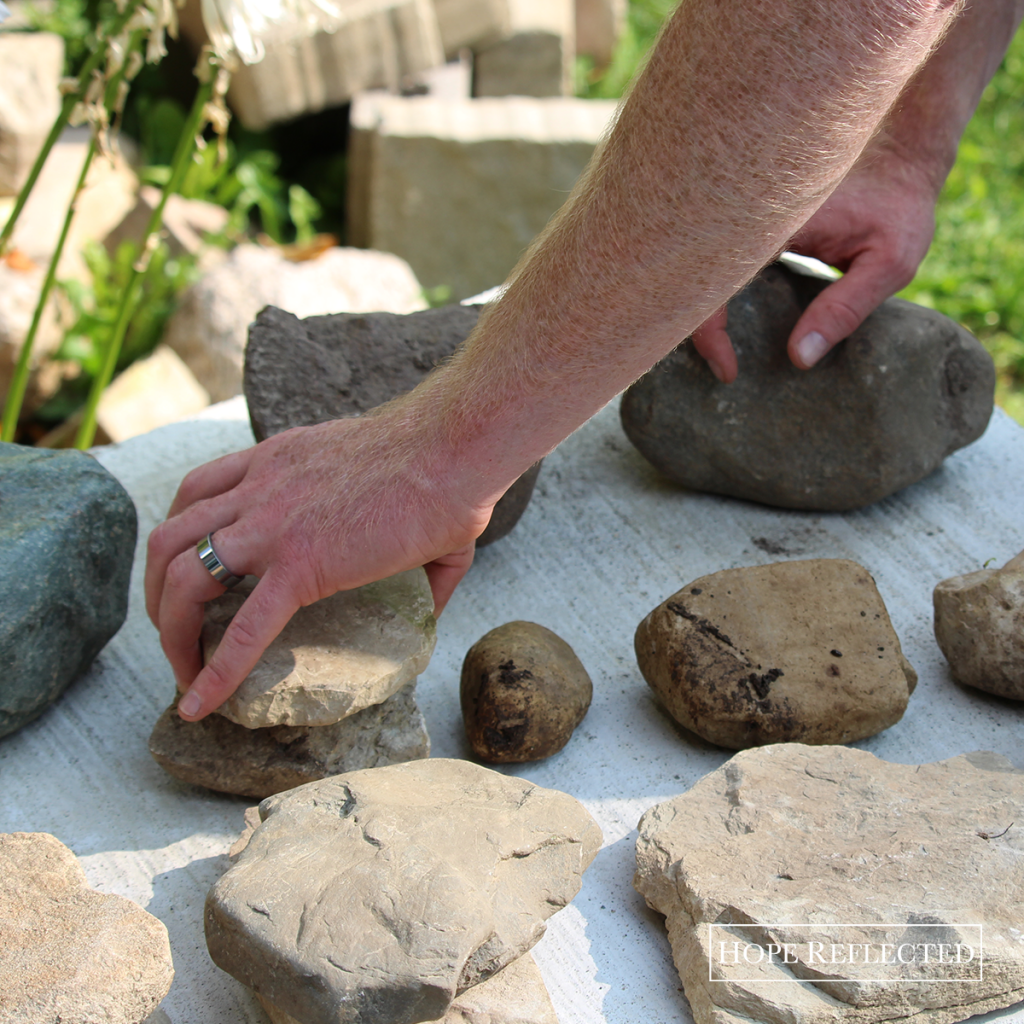 Our latest garden stone border is on the blog! | See more at hopereflected.com
