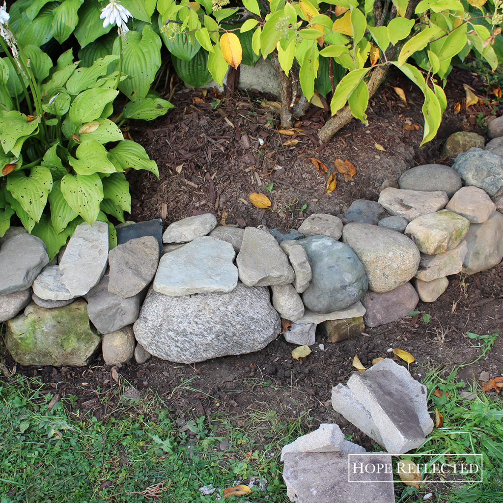 Our latest garden stone border. | See more at hopereflected.com
