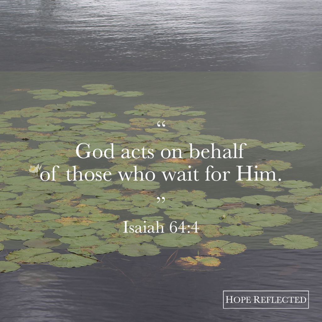 God acts on behalf of those who wait for Him. | See more at hopereflected.com