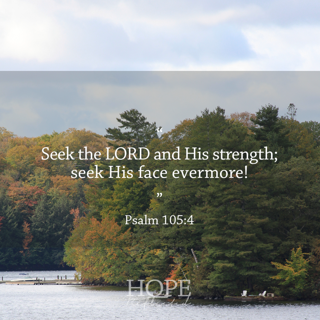 "Seeking God ""Seek the LORD and His strength, seek His face evermore!"" (Psalm 105:4) 