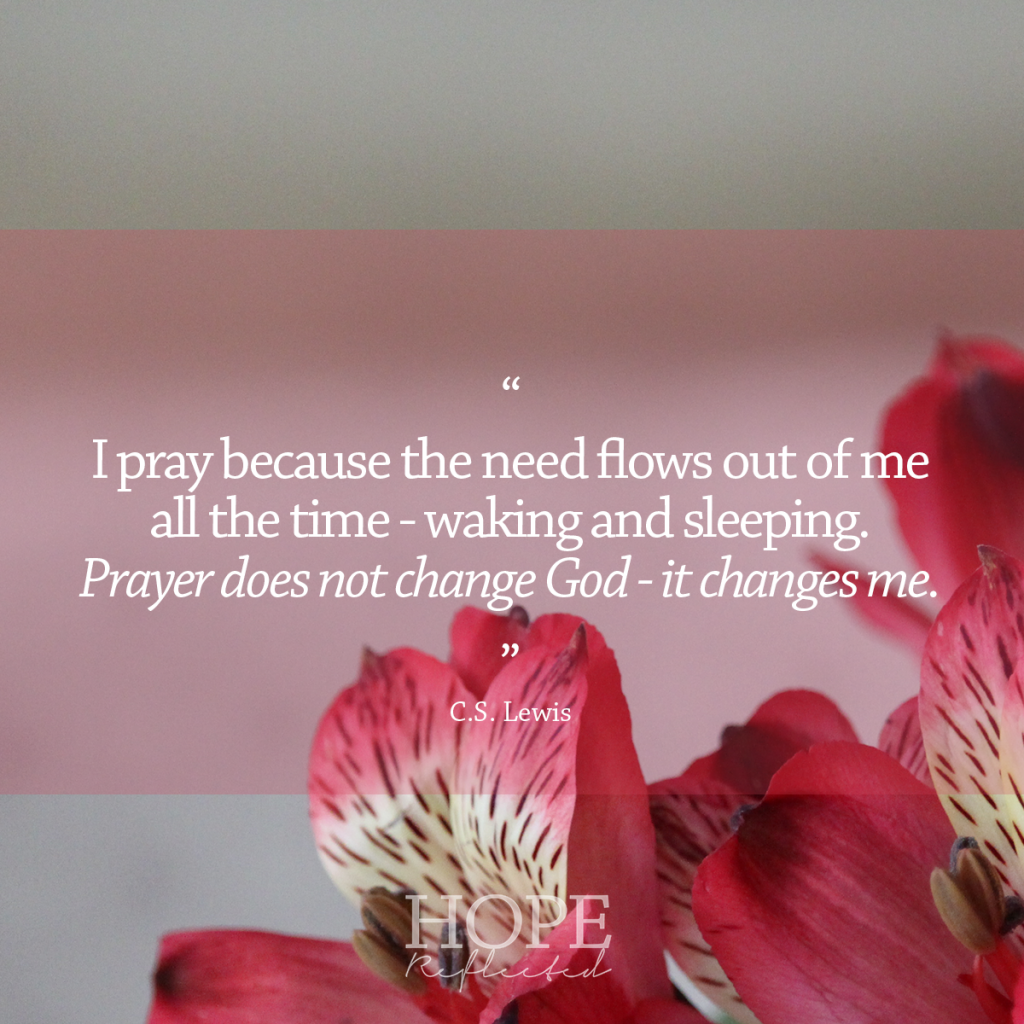 The Necessity of Prayer - Hope Reflected