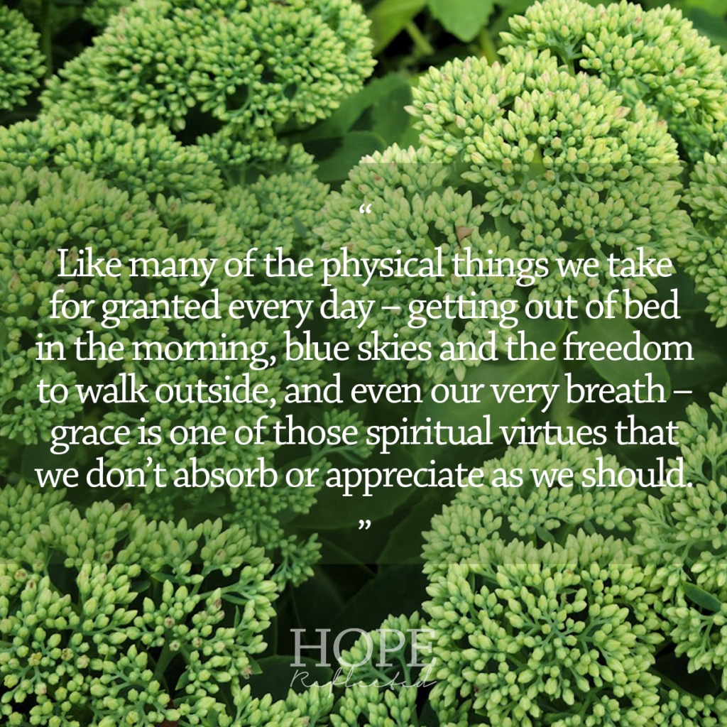 Grace is a gift that we don't absorb or appreciate as we should. Read more on hopereflected.com